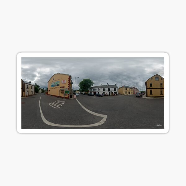Carrick Crossroads, Donegal(Rectangular)  Sticker