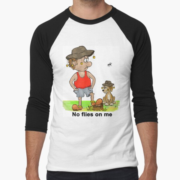 No Flies on Me Baseball ¾ Sleeve T-Shirt