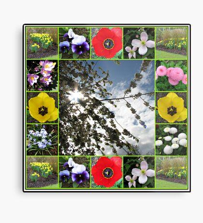 Glorious Spring Collage Metallbild