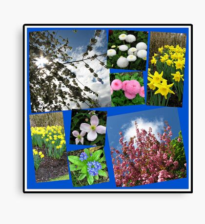Glories of Spring Collage Leinwanddruck
