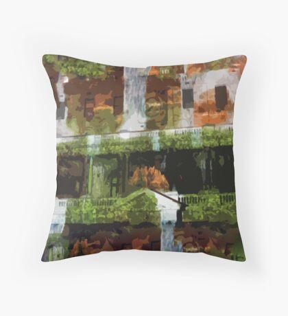 Waterfalls in the Clocktower Throw Pillow
