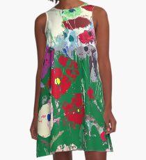 Garden Delight A-Line Dress
