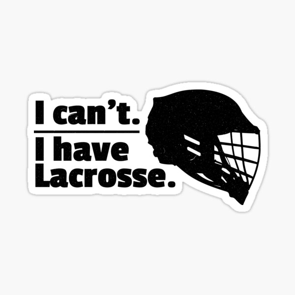 American Vinyl It Takes Balls to Play Lacrosse Sticker Shaft Stick Ball Decal