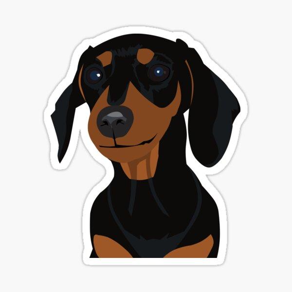 Black and Tan Dachshund Puppy - Large Print Sticker