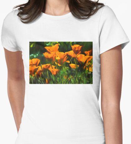 Brilliant Orange California Poppies - Impressions of Desert Spring T-Shirt