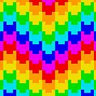 Pixelated Rainbow Heart Pattern by 27AwesomeThings