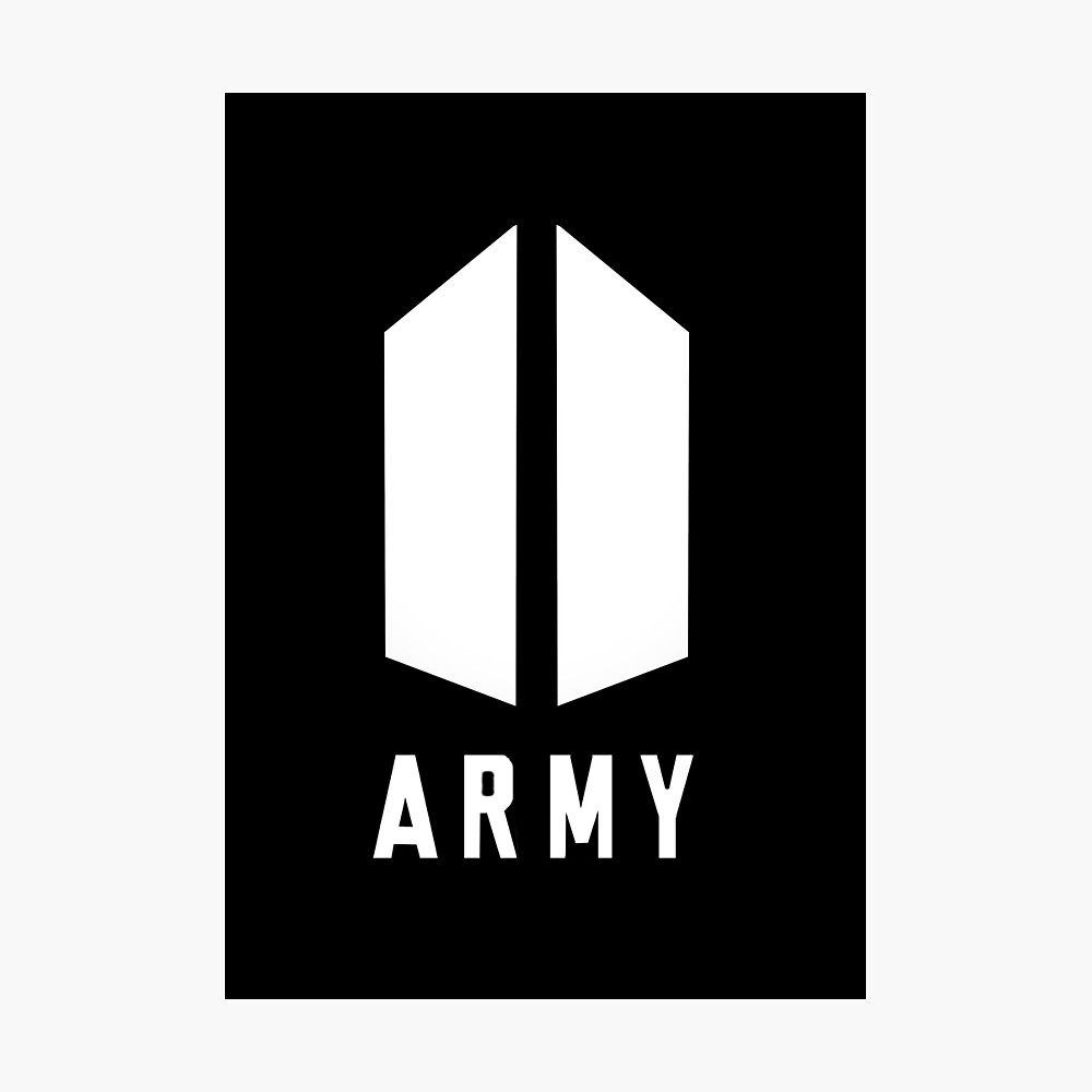 army bts logo poster by pepguardi redbubble redbubble