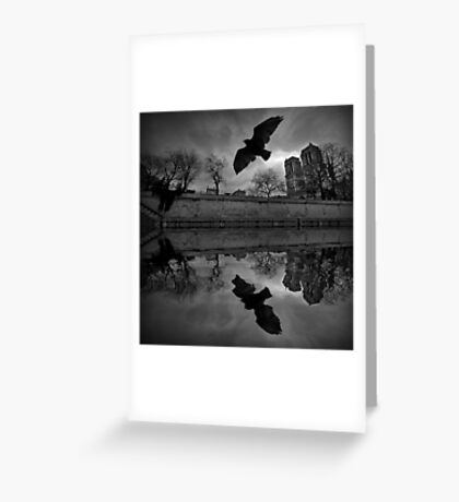 Pigeon and Notre-Dame Greeting Card