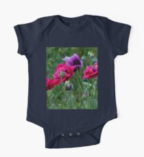 Colourful Poppies One Piece - Short Sleeve