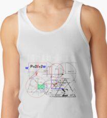 Funny Math Equations Geek Man Shirt Artwork Humor Meme Tank Top