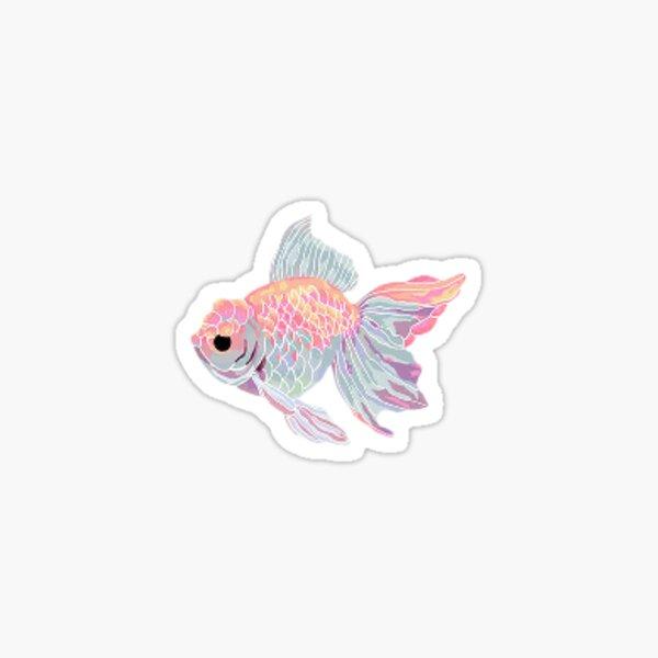 pastel goldfish Sticker