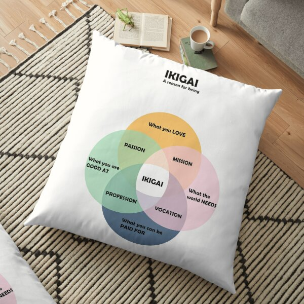 IKIGAI A reason for being Floor Pillow