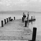 Life on the Boardwalk, Lago Trasimeno, Umbria, Italy by Andrew Jones