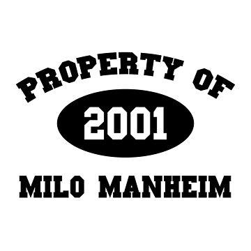 Property of Milo Manheim by amandamedeiros