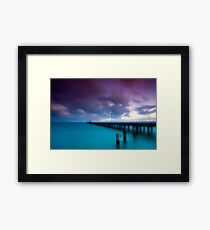 Dusk at Mordialloc Pier Framed Print
