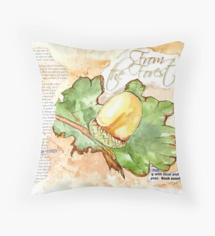 Country Diary - From the Forest Throw Pillow