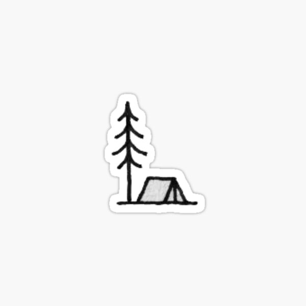 small campsite Sticker