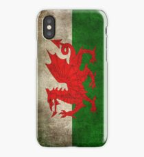 Old and Worn Distressed Vintage Flag of Wales iPhone Case/Skin