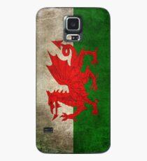 Alte und getragene beunruhigte Weinlese-Flagge von Wales Hülle & Klebefolie für Samsung Galaxy