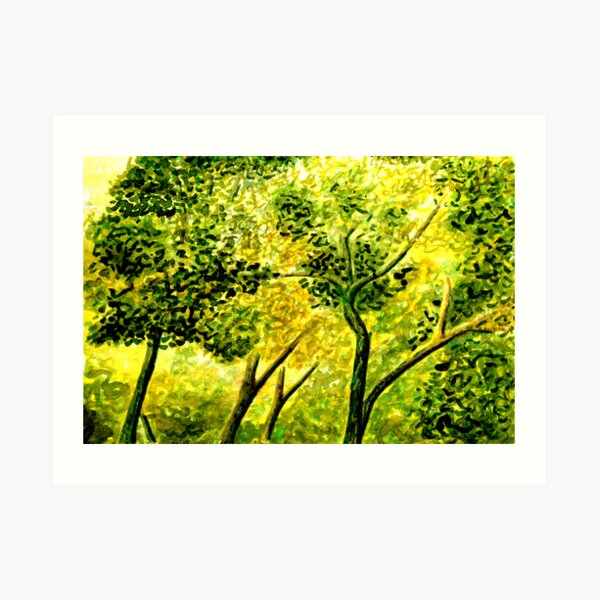 Honey Leaflight Art Print