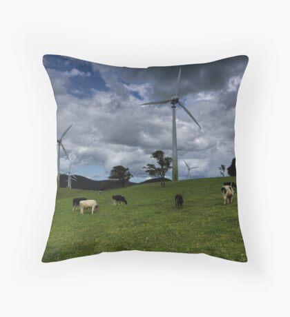 Contented Cows Throw Pillow
