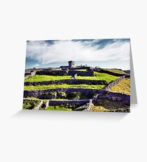 The fort on top of the hill Greeting Card