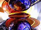 Colliding Forces Abstract by Alexander Butler