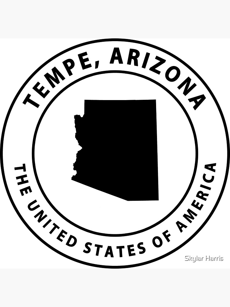 Tempe Arizona Souvenirs AZ Emblem by fuller-factory
