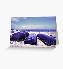 Summer by the beach Greeting Card