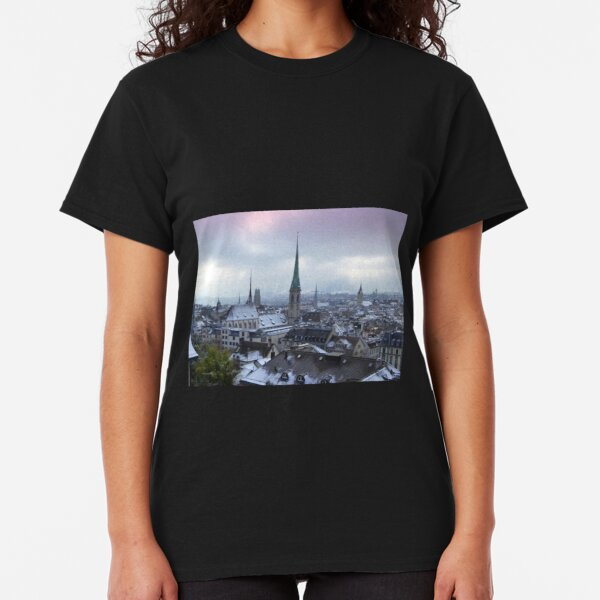 Zurich on a frosty February Morning Classic T-Shirt