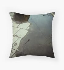 second hand sky Throw Pillow