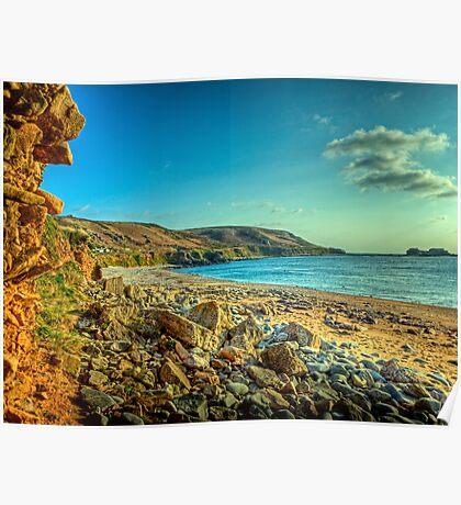 Clonque Bay - Alderny Poster