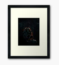 Gothic Skull in Cathedral Framed Print