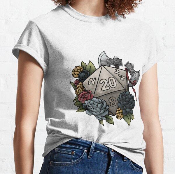 Barbarian Class D20 - Tabletop Gaming Dice Classic T-Shirt