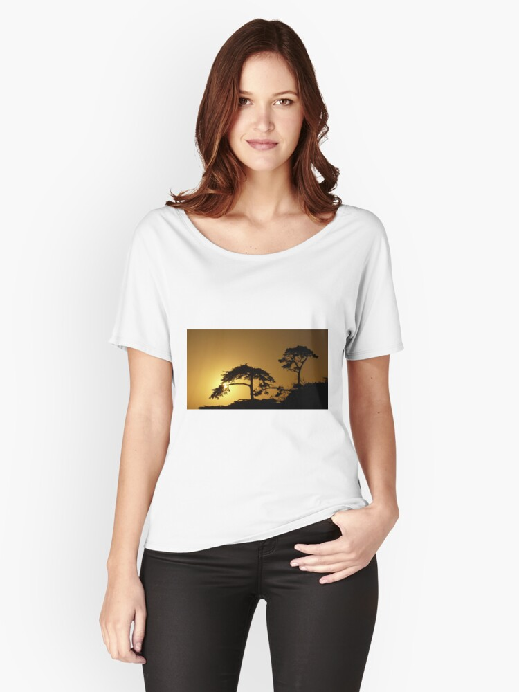 #260      Sunset From Pebble Beach Women's Relaxed Fit T-Shirt Front
