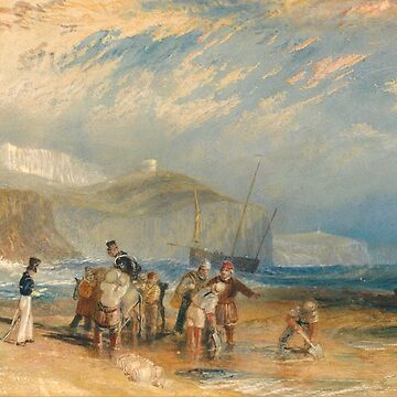 "Joseph Mallord William Turner ""Folkestone Harbour and Coast to Dover"" by ALD1"