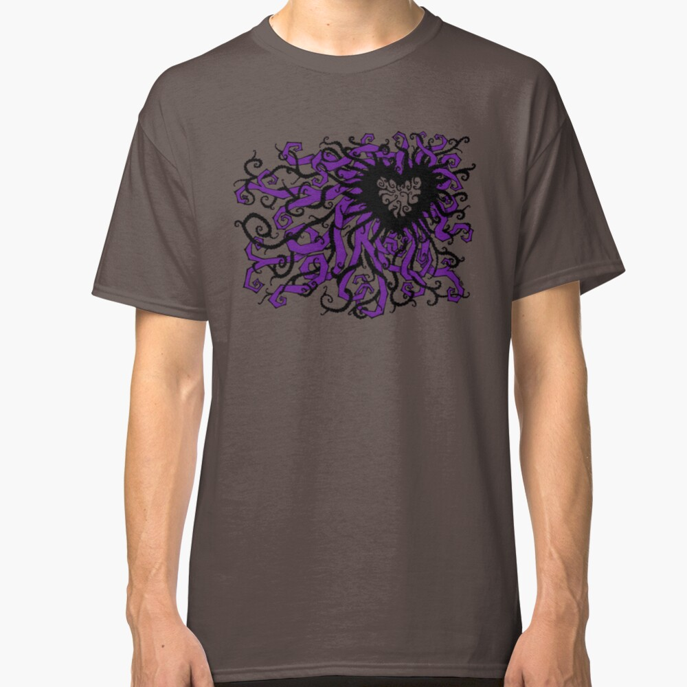 Tangled Heart in Violet Classic T-Shirt