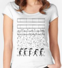 Singing in the Raaaain Women's Fitted Scoop T-Shirt