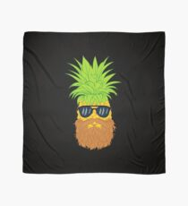 Bearded Fruit Cool Pineapple Graphic T-shirt Sunglasses Mustache Old Juicy Summer Beach Holidays Scarf