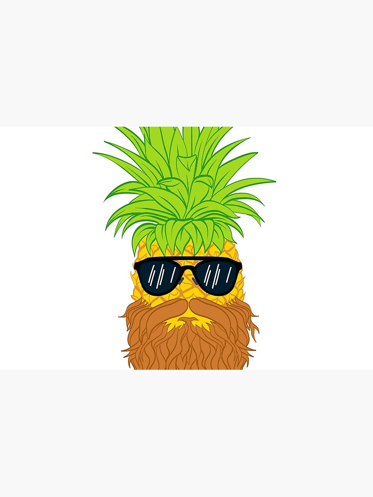 Bearded Fruit Cool Pineapple Graphic T-shirt Sunglasses Mustache Old Juicy Summer Beach Holidays by Customdesign200