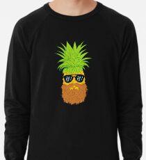 Bearded Fruit Cool Pineapple Graphic T-shirt Sunglasses Mustache Old Juicy Summer Beach Holidays Lightweight Sweatshirt