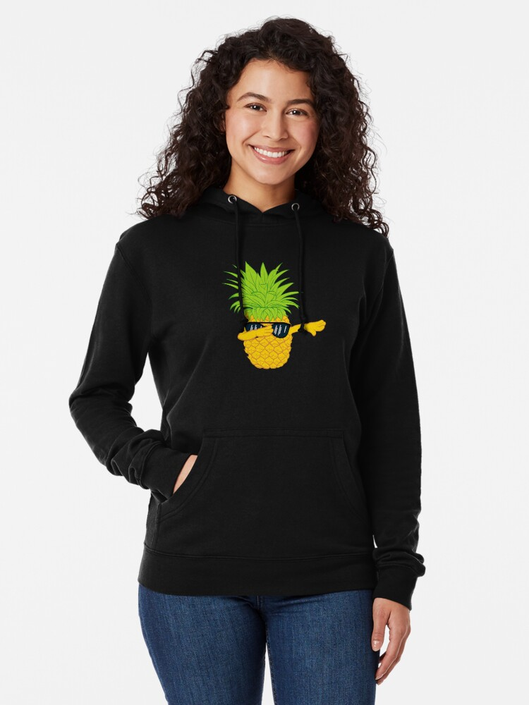 Alternate view of Swagger Dab Sunglasses Fruit Cool Pineapple Graphic T-shirt Summe Holidays Vacation Swag Dope Design Lightweight Hoodie