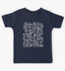 Pile of Grey Bicycles Kids Tee