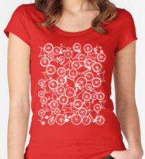 Pile of White Bicycles Women's Fitted Scoop T-Shirt