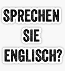 Pegatina Do you speak English? (German)