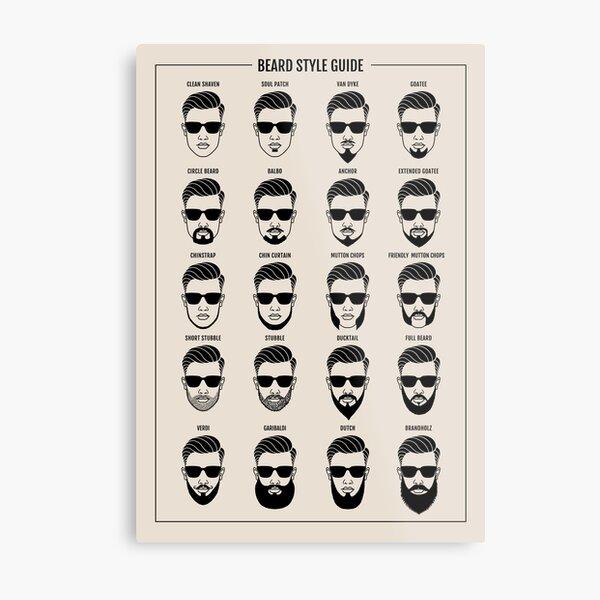 beard style guide poster Metal Print