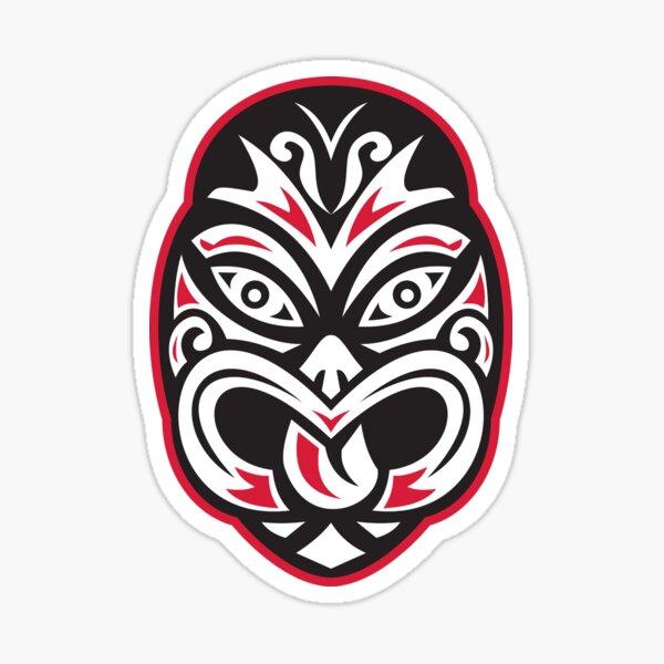 maori tiki moko masque de tatouage Sticker