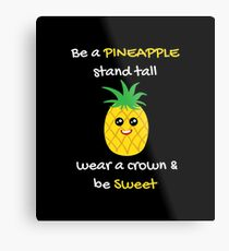 Pineapple Shirt Be A Pineapple Stand Tall Gift Tee Metallbild