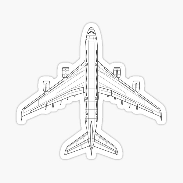 Airbus A380 Blueprint Sticker