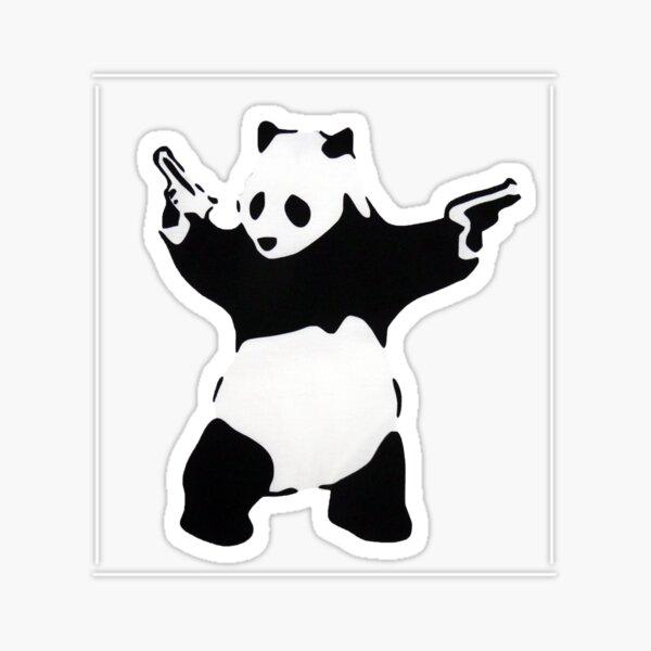 Banksy Panda con pistolas Pegatina